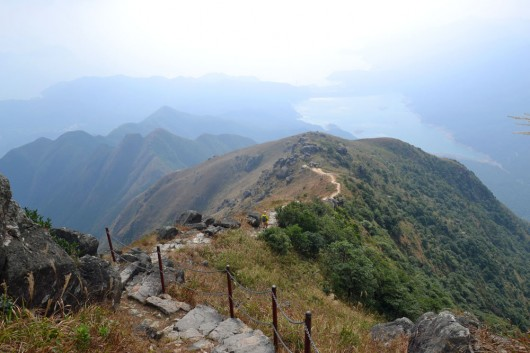 Trail towards Tian Tan Buddha statue