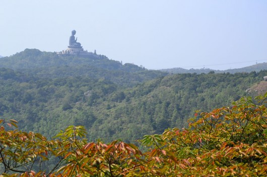 Tian Tan Buddha in the far distance