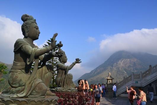 Statues at Ngong Ping
