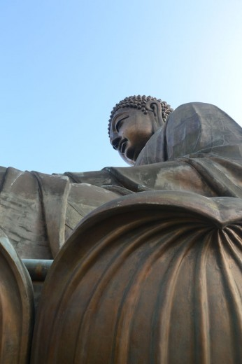 Up close with the Tian Tan Buddha statue