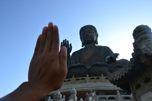 Up top with Tian Tan Buddha statue