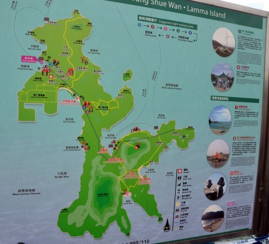 Map of Lamma Island