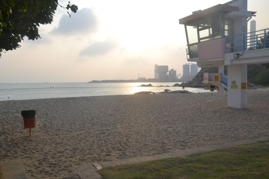 Sunset on Hung Shing Ye Beach on Lamma Island