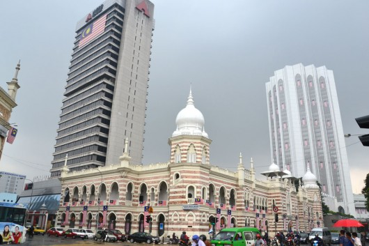 One of the many impressive colonial buildings in downtown Kuala Lumpur