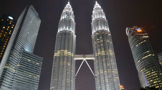 Impressive sight at night, Petronas towers