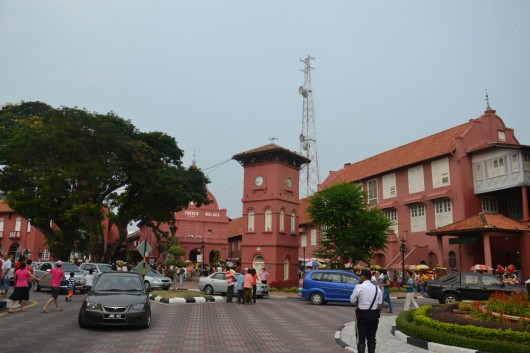 Town square in Malacca