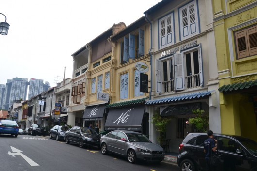 Old colonial buildings given a new look and commercial function