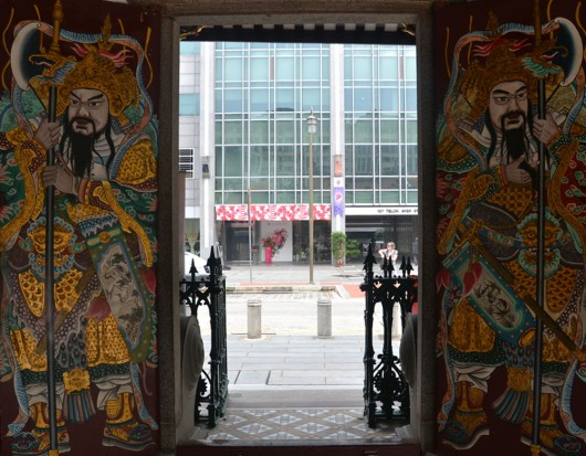 Panel doors of Hock Keng Temple