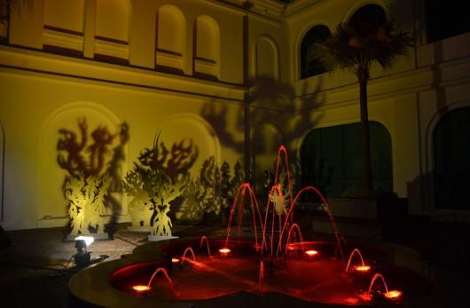 Night Lights 2012: Distorted Forest installation