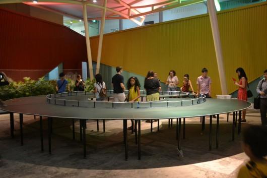 360° Ping pong table at Night Lights 2012