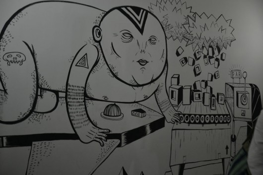 One of the sharpee drawings on the walls in SAM