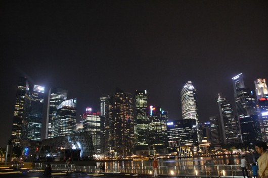 Singapore skyline, commercial district towers