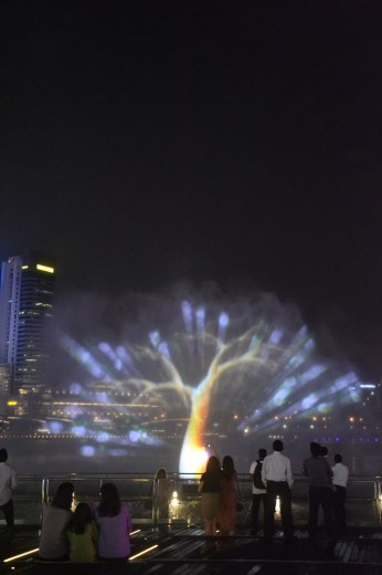 Water show in front the Sands hotel