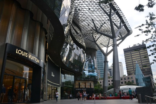 Interesting looking architecture on Orchard Rd and shopping...