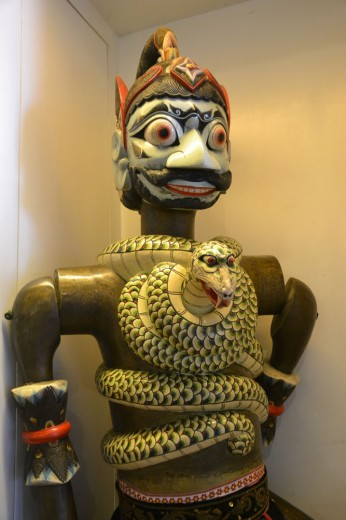 Wooden puppets in the museum