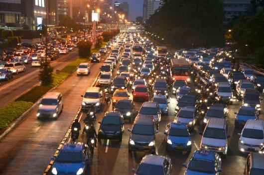 Everyday traffic in Jakarta