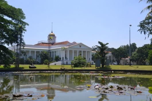 Presidential palace in Bogor botanic garden