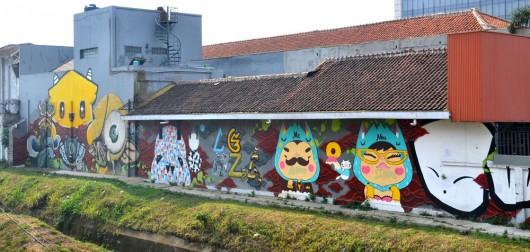 Graffiti wall near my hostel