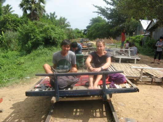 Bamboo train in Battambang - Cambodia