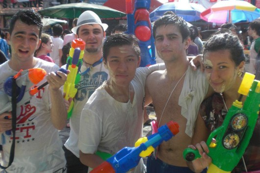 Celebrating Thai New Year (Songkran) in Bangkok - Thailand