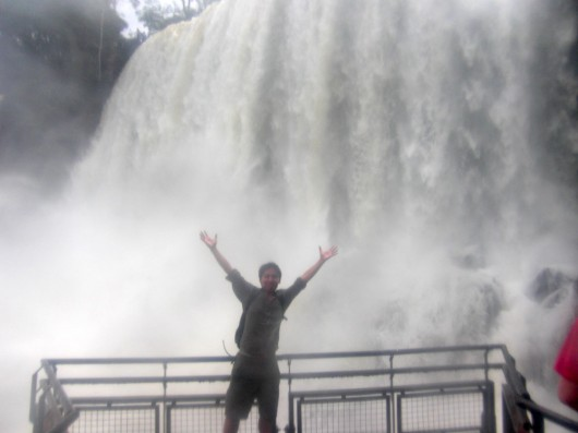 Getting drenched in Foz de Iguazu - Argentina