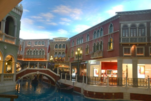 Shopping area of The Venetian