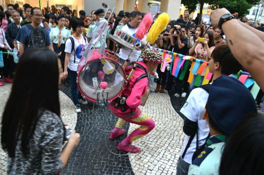 Street performances in old city Macau
