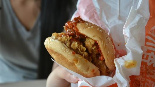 KFC's Sichuan spicy burger