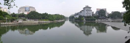 Panoramic view of Lijiang river