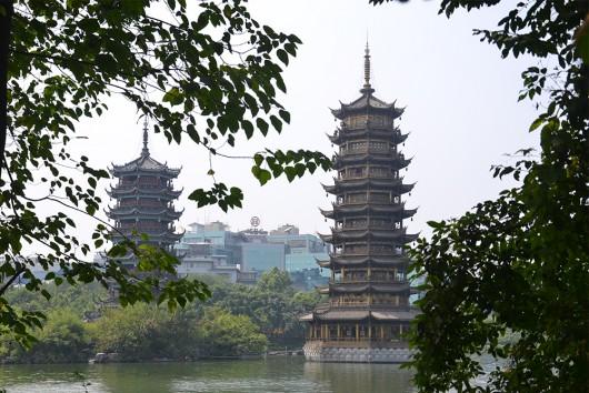 Sun and moon pagoda