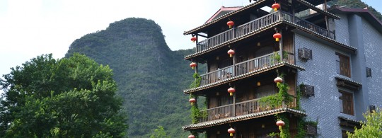 Charming hotel/tea house in outskirts of Yangshuo