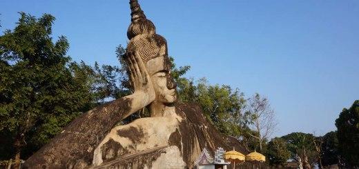 A huge reclining Buddha