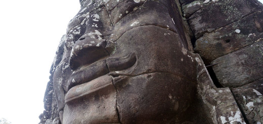 Huge face at the Bayon Temple