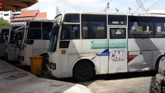 Shabby looking public bus