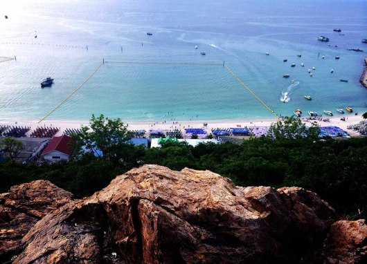 Asian backpacker - Koh Larn viewpoint