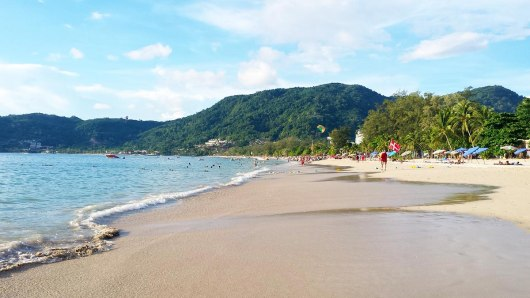 Asian Backpacker - Phuket beach