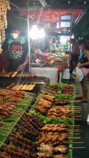 Asian Backpacker - Phuket night bazaar BBQ
