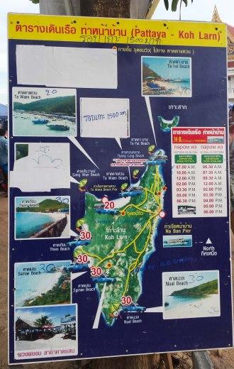 Asian backpacker - Koh Larn map