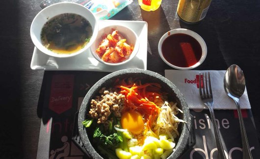 Asian backpacker - Pattaya Korean food