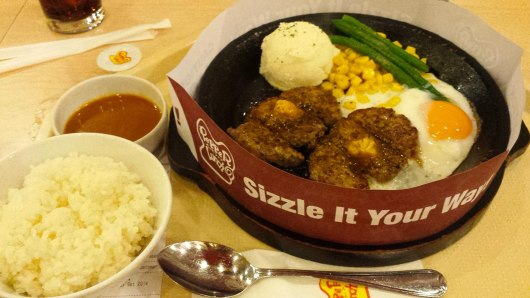 Asian backpacker - Pattaya Sizzle plate