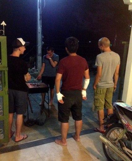 Asian backpacker - Chiang Mai BBQ