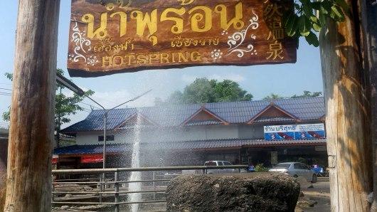 Asian backpacker - Chiang Mai hot springs