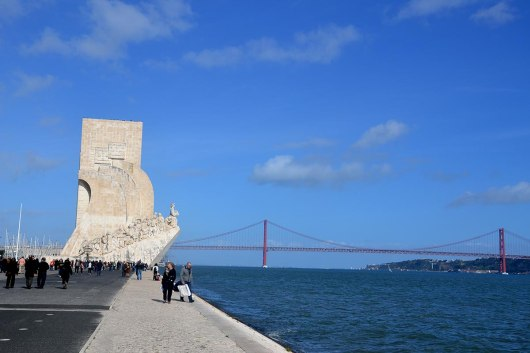 Asian backpacker - Lisbon Belem
