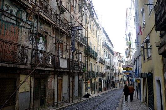Asian backpacker - Lisbon