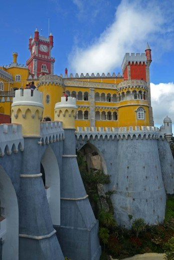 Asian backpacker - Sintra Pena Palace
