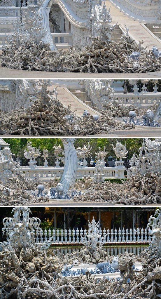 Asian backpacker - Chiang Rai white temple