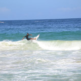 People surfing on the waves near Choroni